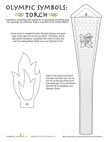 Worksheets: Olympic Torch