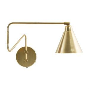 Area Brass Industrial Swivel Wall Light