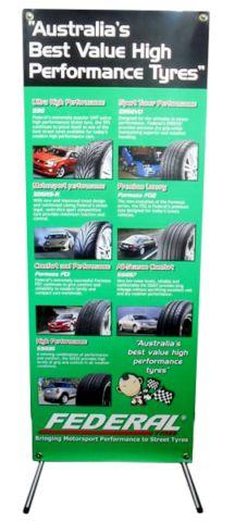 X banner for an Australian tyre company.