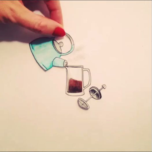 Cool stop motion animation of a coffee press http://instagram.com ...