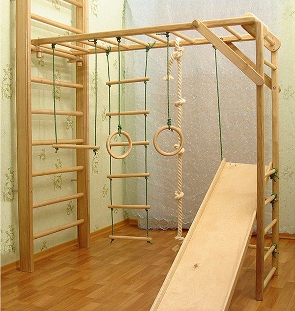 wooden kids jungle gym playroom ideas kids room gym ideas