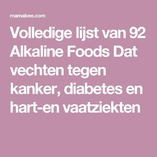 Volledige lijst van 92 Alkaline Foods Dat vechten tegen kanker, diabetes en hart-en vaatziekten