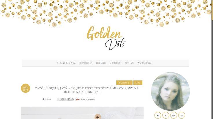 Szablon dla Bloggera - Golden Dots