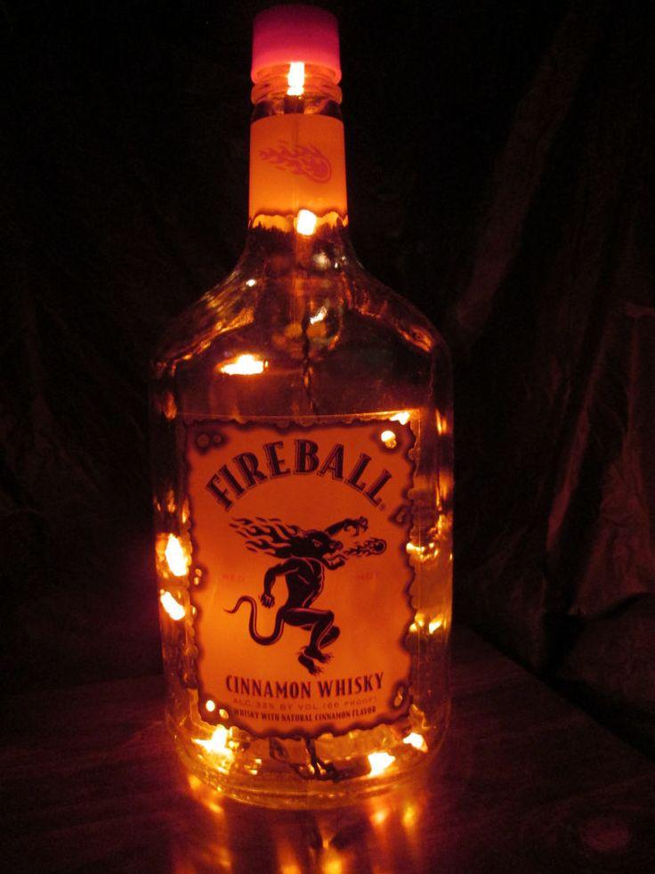 Fireball Liquor Bottle Light-Bar, Man Cave, Dorm Room                                                                                                                                                                                 More