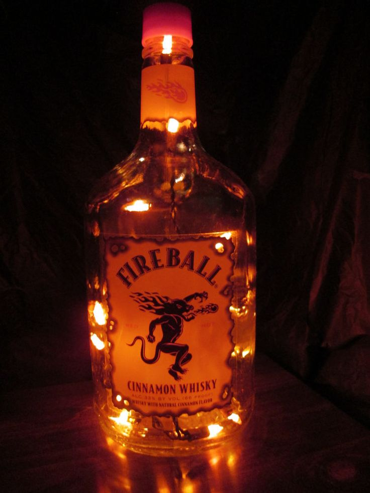 Fireball Liquor Bottle Light-Bar, Man Cave, Dorm Room                                                                                                                                                                                 More