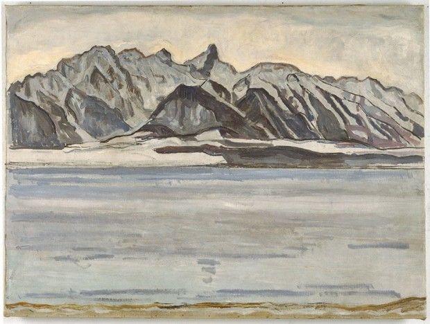 Ferdinand Hodler, Thunersee mit Stockhornkette im Winter, 1912, Kunstmuseum Bern