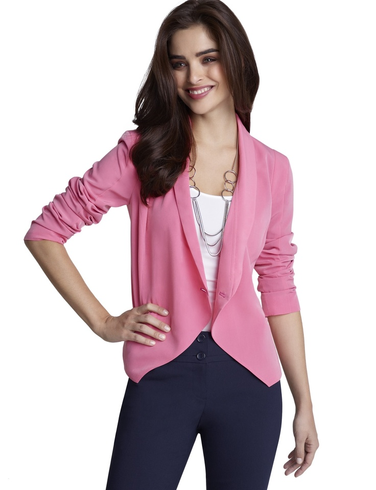Forenza Crossover Jacket: Forenza Crossover, Fashion Sen, Hot Pink Blazers, Crossover Jackets, Fashion 911, Pink Pumps, The Limited, Fashion Inspiration, Pink Jackets