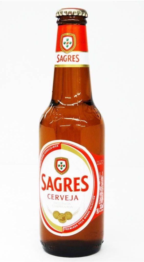 Sagres, Pale Lager 5,0% ABV (Sociedade Central de Cervejas e Bebidas (Heineken Group), Portugal)