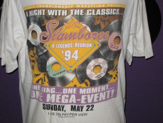 WCW Wrestling Men's Slamboree ppv 1994 Promo Shirt XL by HAwesomeB