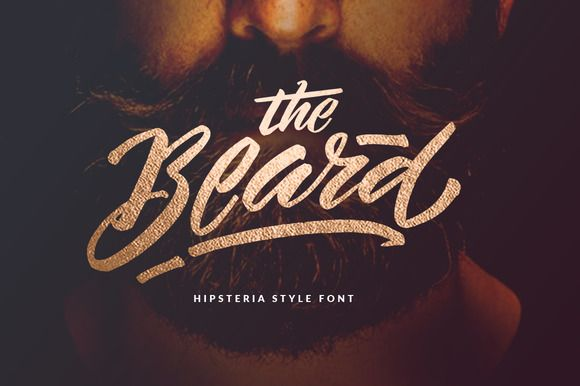 The Beard - Branded Typeface +Extras by Dirtyline Studio on @creativemarket