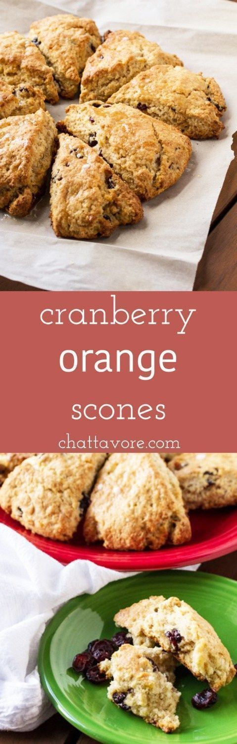 Cranberry orange scones are pretty much my idea of baking bliss. Cranberries and oranges go together like peanut butter and jelly. | recipe from Chattavore.com
