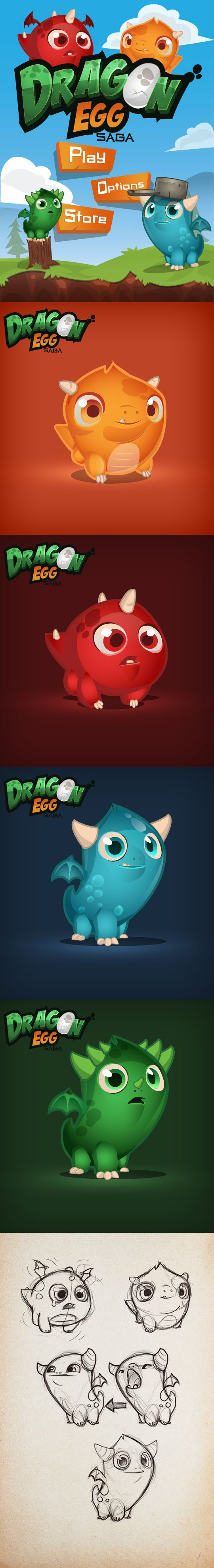 Dragon Egg Saga by Erda Baykara, via Behance