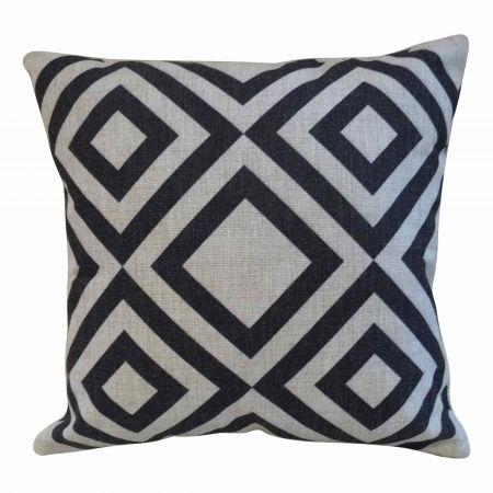 Black diamonds cushion cover - hardtofind.