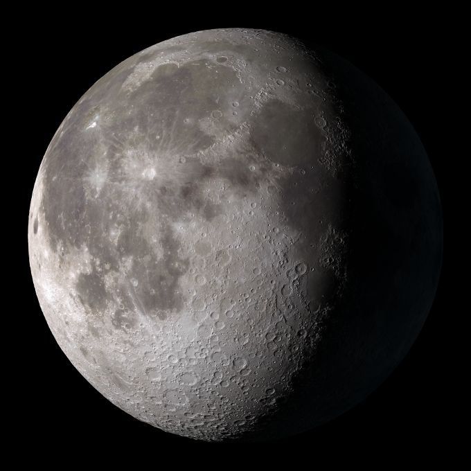 A description of the moon as the only natural satellite of earth