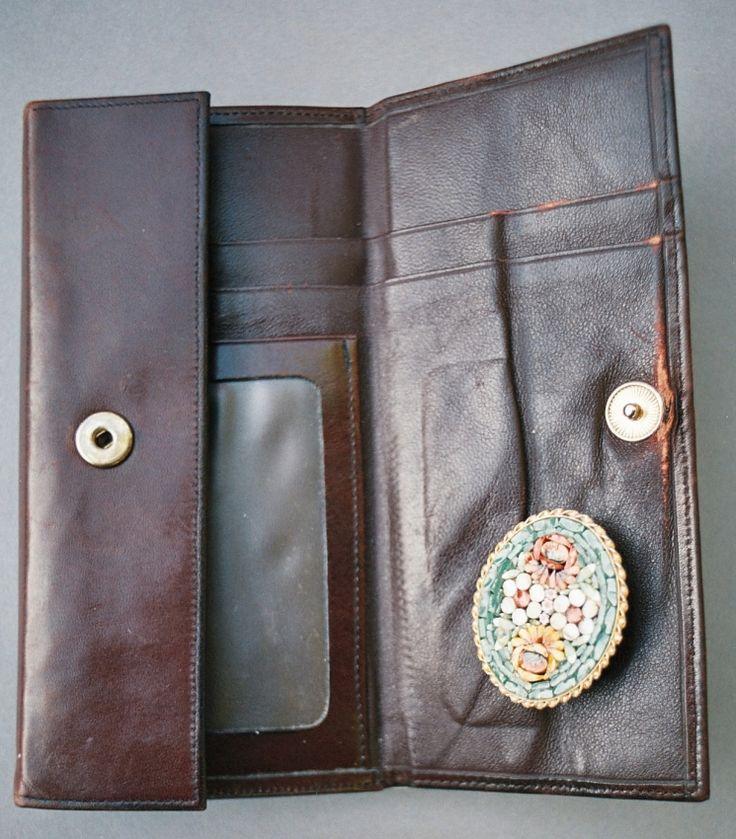#brooch #leatherwallet #brownwallet