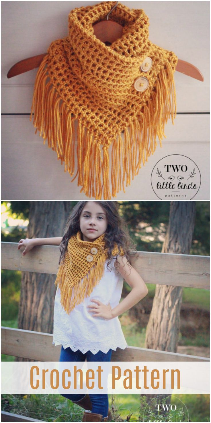 Digital download crochet pattern for beautiful cowl scarf. Suitable for kids or adults. #crochet #scarf #afflink #fashion #handmade #pattern
