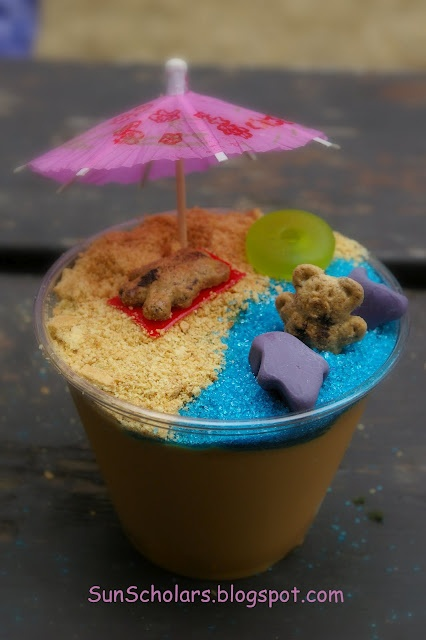Beach pudding cups!
