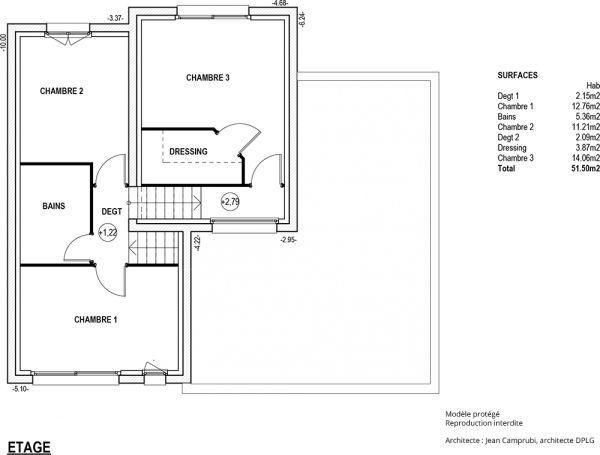 Modèle Côme - Maison Contemporaine à construire de type demi-niveau - plan maison demi sous sol