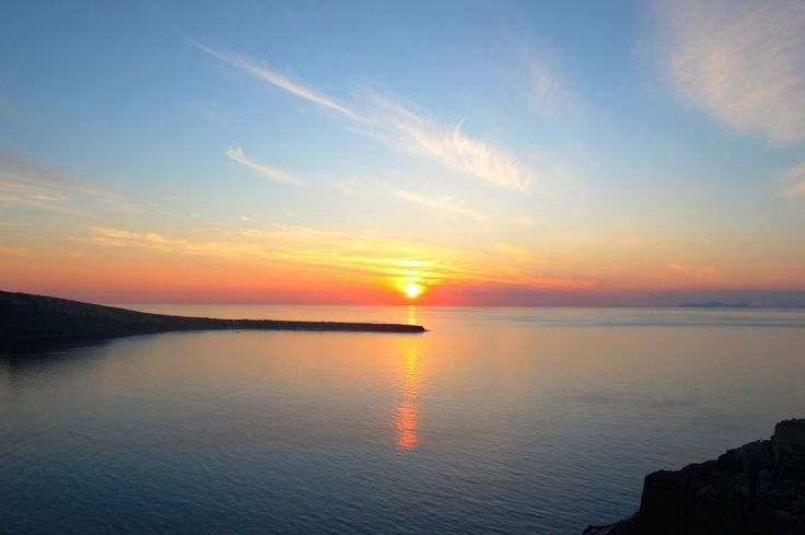 #Sunset over the #Mediteranean in #Santorini, #Greece | Picfari.com