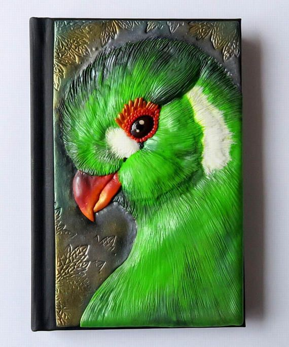 Green Turaco polymer journal African bird 200 blank pages