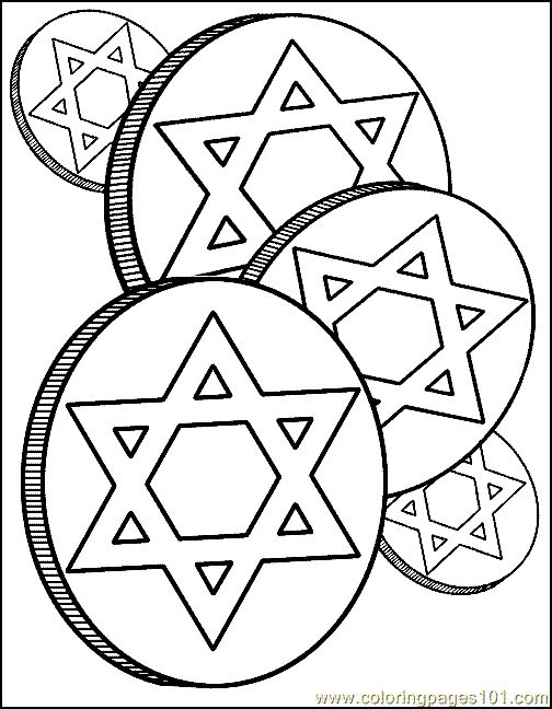 Hanukkah Coloring Page Community holiday party kids