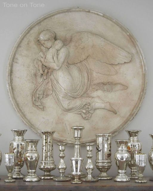 Best Mercury Glass Images On Pinterest Mercury Glass Candle