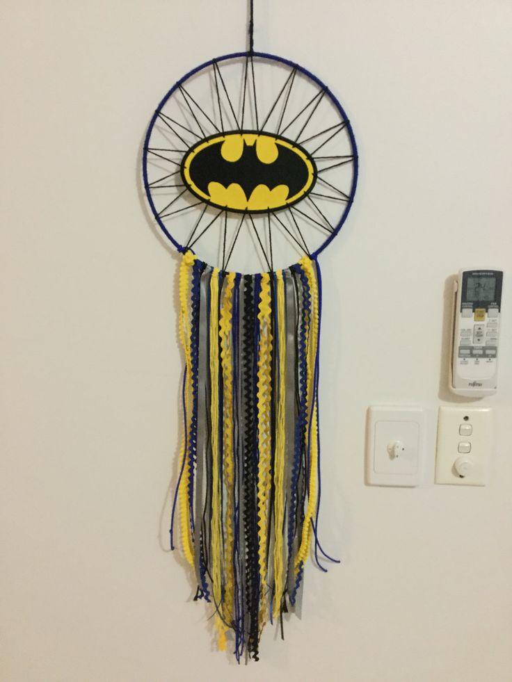 Dreamcatcher created for my Batman loving son - by Tamara Casey