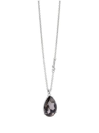 The Drop Necklace with crystal drop charm