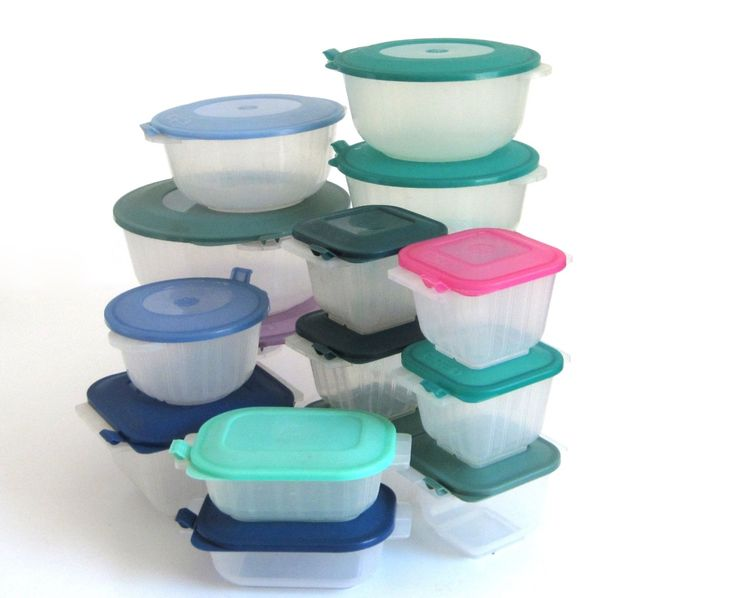 Anchor Hocking Plastic Containers Microwave Pop Top Storables 1990s