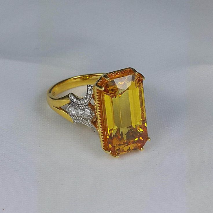 Natural Yellow Sapphire Ring by Colouredgemstones on Etsy https://www.etsy.com/listing/503834192/natural-yellow-sapphire-ring