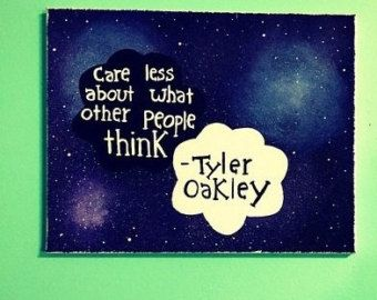 Tyler Oakley quote painting