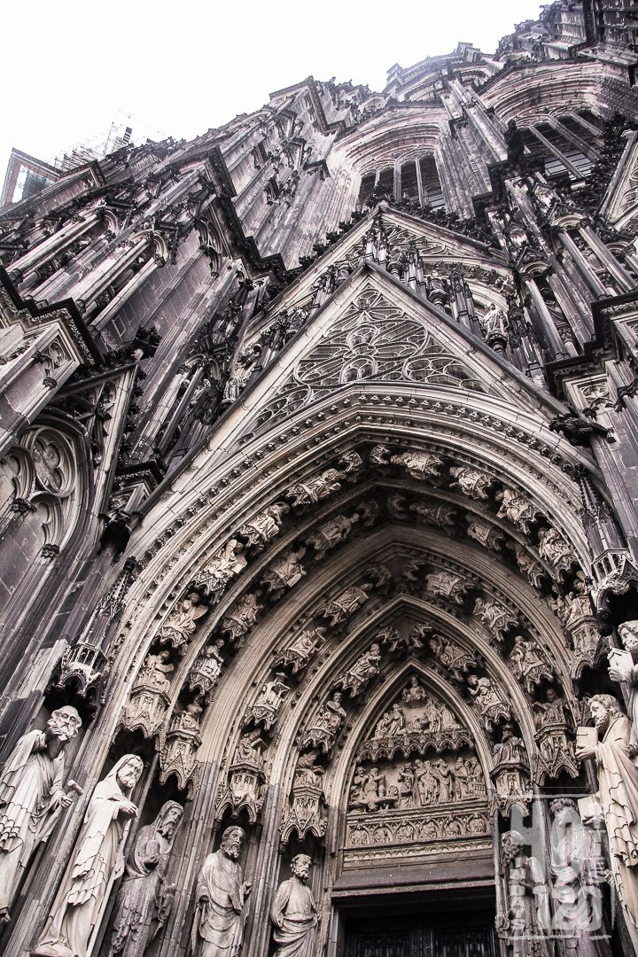 The main entrance of the cathedral - Cologne, Germany