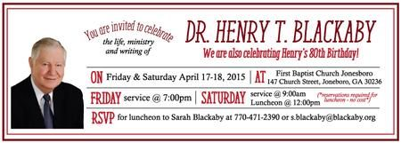 Henry Blackaby's Celebration & Luncheon