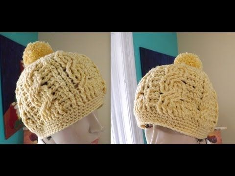▶ Crochet Gorro De Trenzas Para Adulto - YouTube