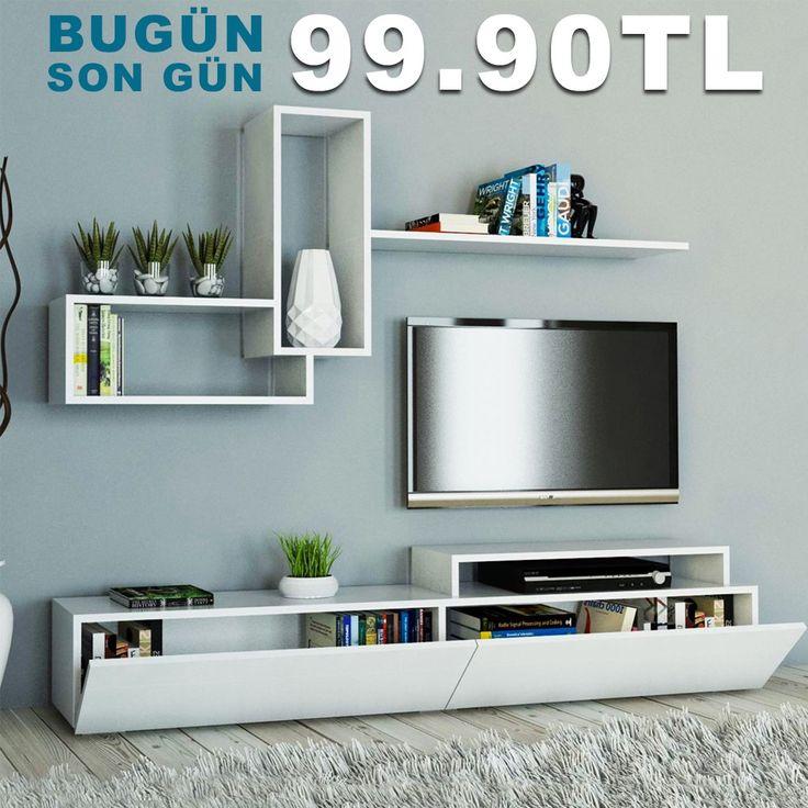 Bugün son gün! Evdekimoda Dekor TV Unitesi sadece 99.90 TL! Üstelik kargo bedava! #dekorazoncom >> http://www.dekorazon.com/dekor-tv-unitesi-9990-tl?utm_source=pinterest&utm_medium=post&utm_content=dekor-tv-unitesi