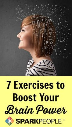 Exercises to Boost Your Brain Power. Great ideas to keep your mind as fit as your body! | via @SparkPeople #mentalhealth #health #wellness
