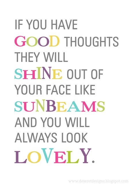 Good thoughts with pictures free download