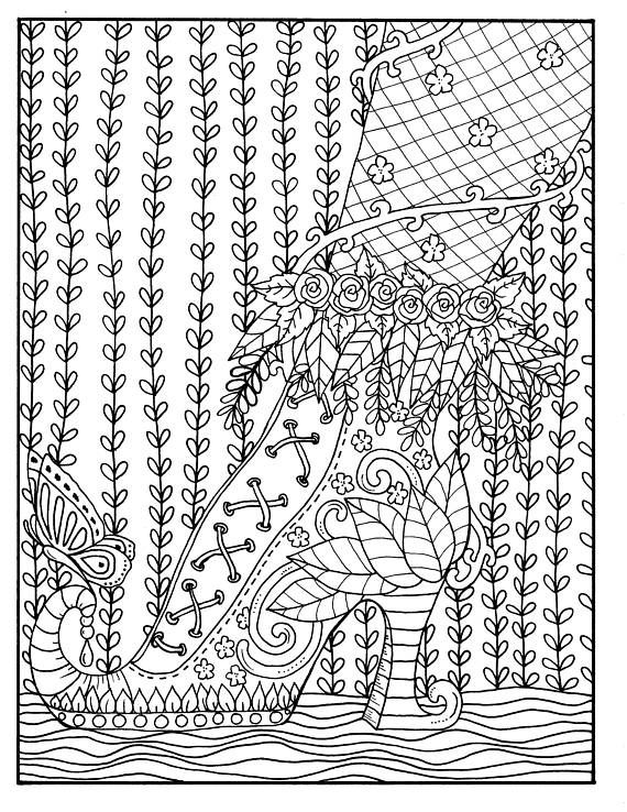 the foot book coloring pages - the 210 best shoes coloring pages for adults images on