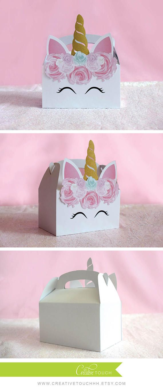 Unicorn Party Favor Gable Boxes Box Size: 6.25 W x 3.5 D x 6 H *NOT counting the horn height - - - - - - - - - - - - - - - - - - - - - - - - - - - - - - - - - - - - - - - - - - - - - - - - - - - - - - - - - - - When placing your order, please leave the QTY as 1 (ONE) Please select