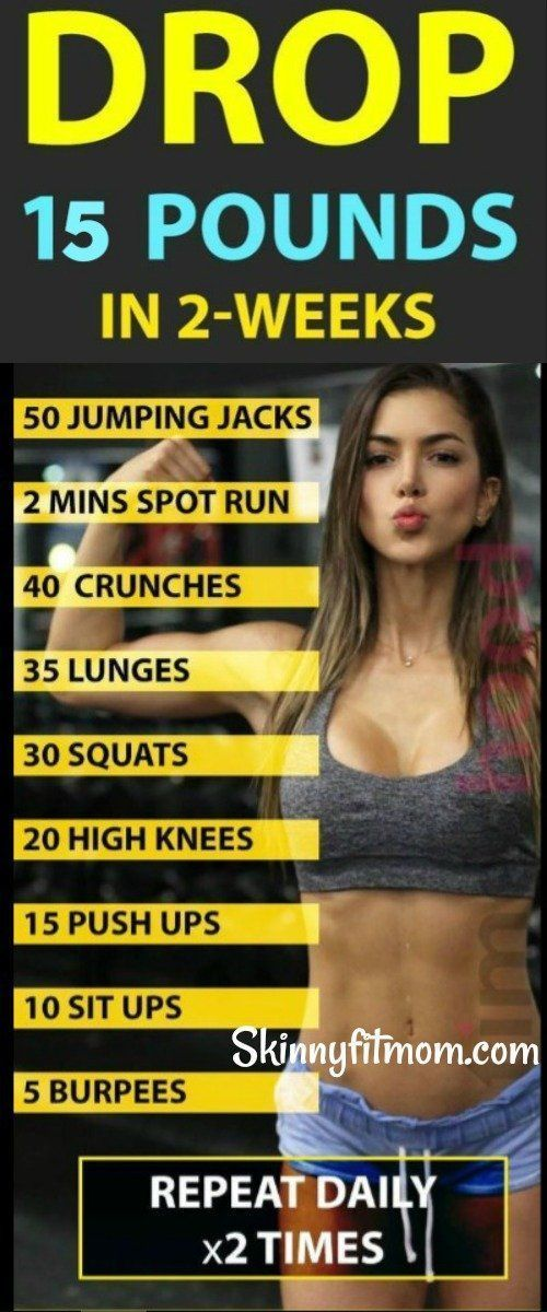 8 besten Übungen, um mehr als 15 Pfund in 2 Wochen zu verlieren