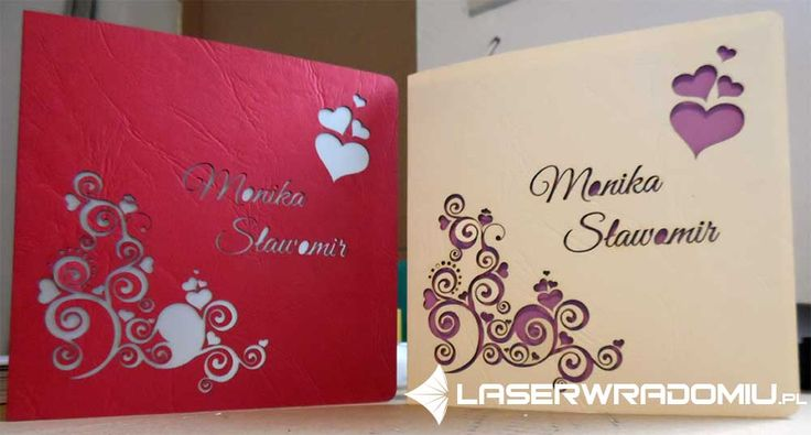 zaproszenie cięte laserem