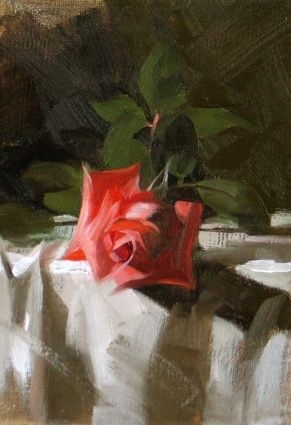 Winter Rose, painting by artist Qiang Huang