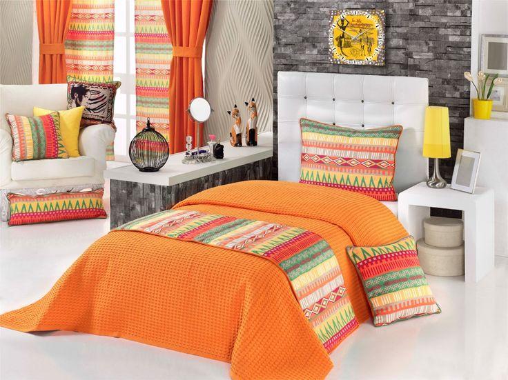Ev Tekstili  Yatak Runnerleri,   APOLENA,   Apolena Renk Cümbüşü Çift Kişilik Yatak Runner Takımı,   yatak runneri, runner, yatak ranırı, yatak estetiği