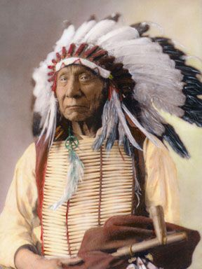 Red Cloud (Makhpia-sha), Oglala, Sioux Chief.