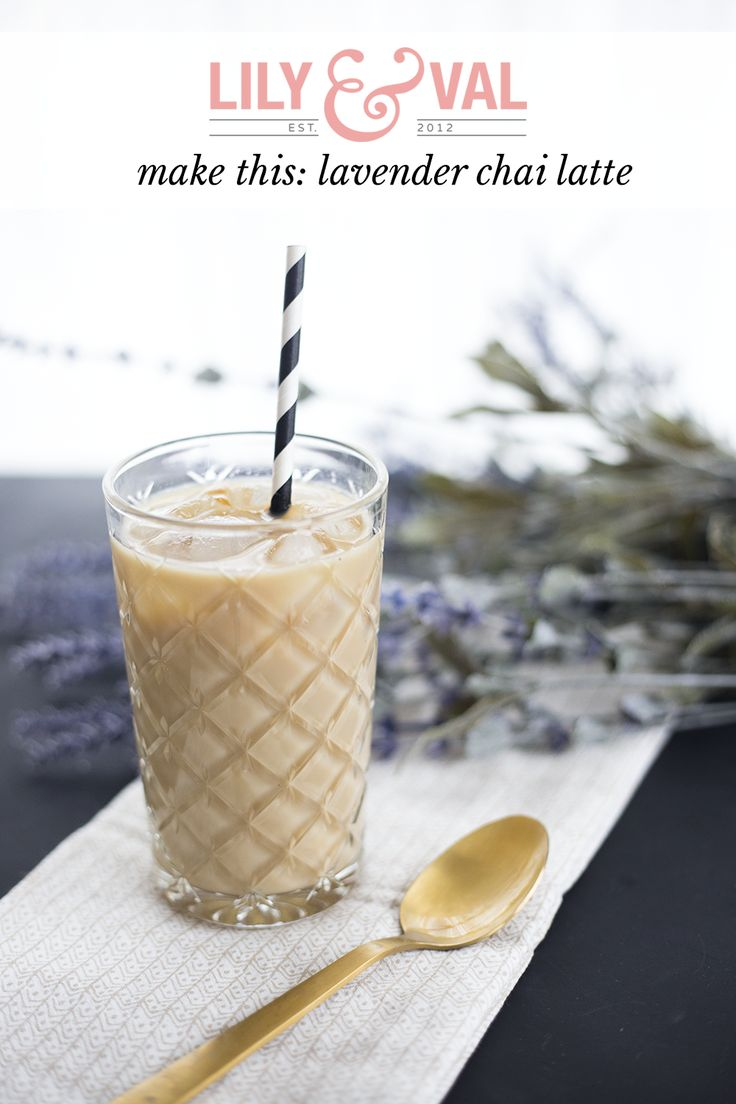 lavender chai latte (yummy).  This is recipe for  lavender syrup and the lavender chai latte