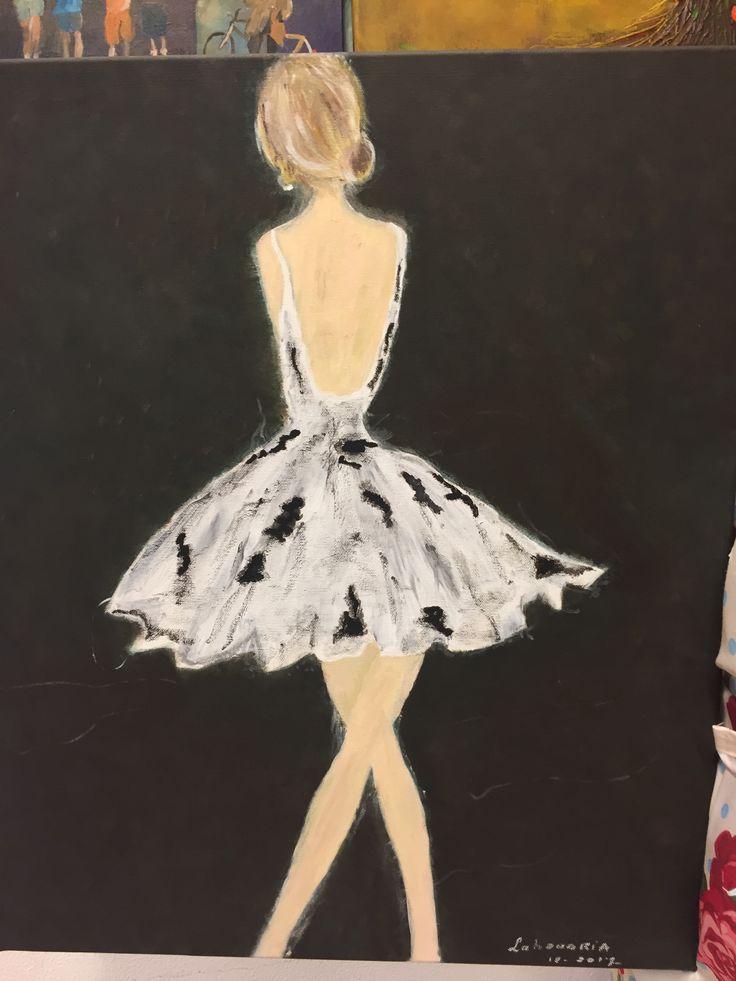 Deze ballerina is geschilderd door mijn schoonzus, zij heeft dit geschilderd bij Irene's Atelier.