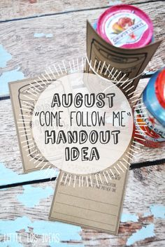 These adorable LDS YW handouts would be perfect for your August 'Come Follow Me'…