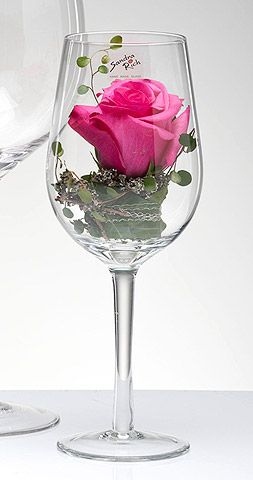 Riesiges Weinglas XXL Vase oder Teelicht   – Rosen Natur, Papier, Plastik, gemalt usw.
