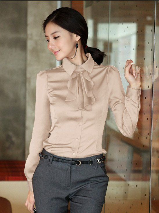 Aliexpress.com : Buy Free shipping hot new fashionpromotion women summer shirt OL dress faux silk  tops sexy blouse coat office lady shirts outerwear from Reliable women blouse suppliers on King World International Trading Limited $18.99