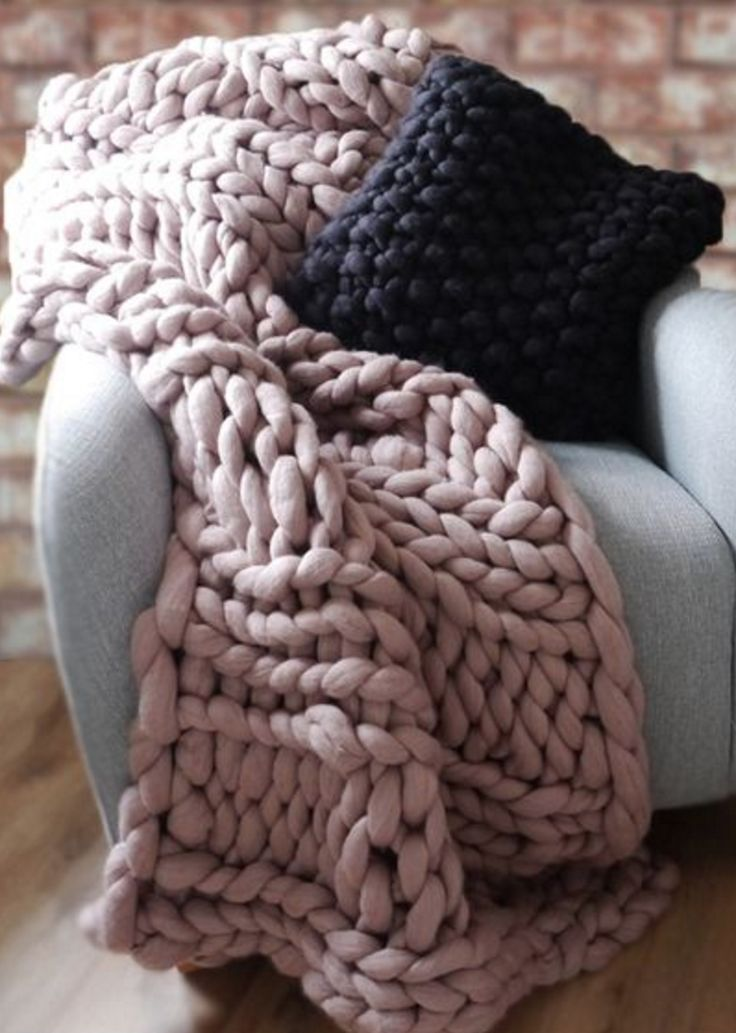 98 best knit hygge giant jumbo images on pinterest for How to make a big chunky knit blanket